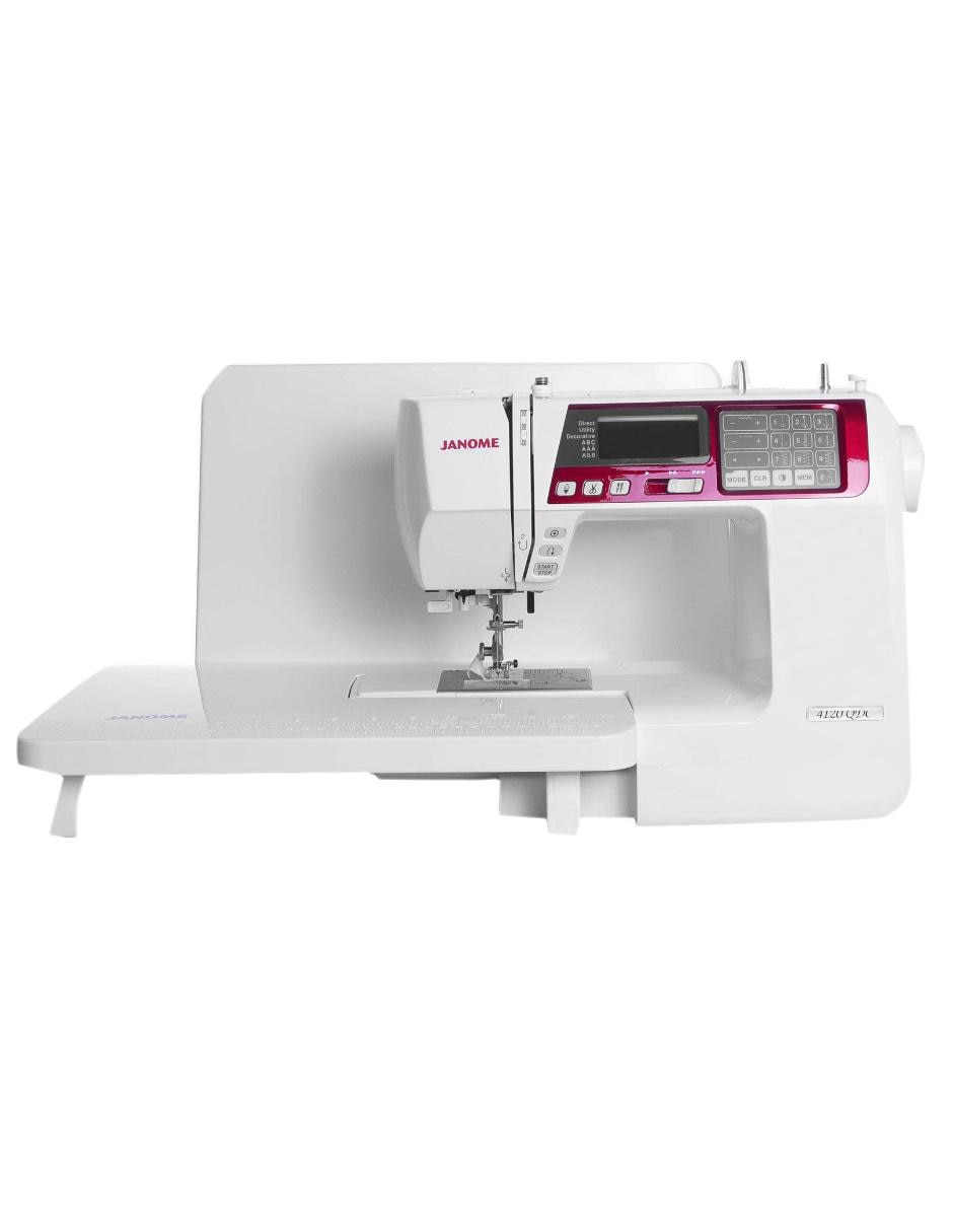 Máquina de coser digital Janome 4120QDC Blanca